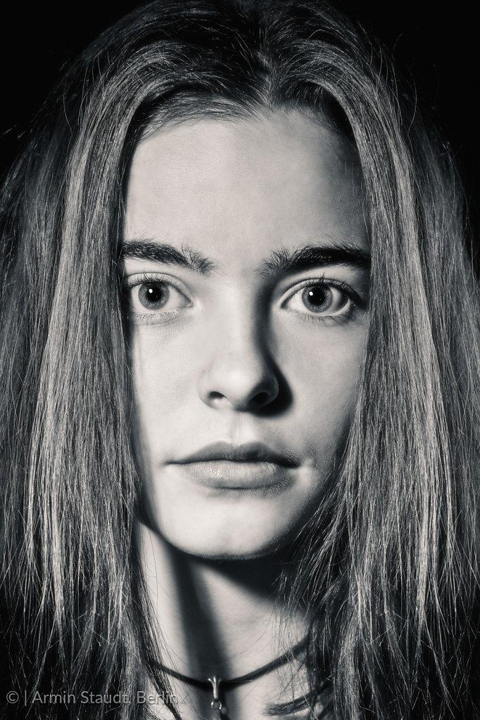 close up portrait of a beautiful woman