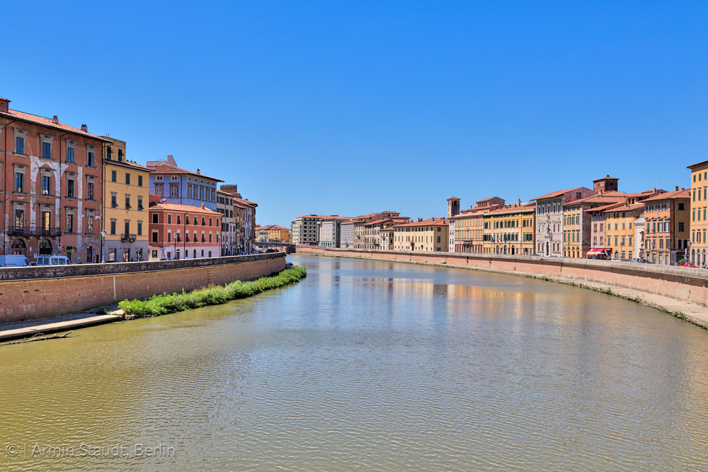 The river Arno in Pisa, Italy