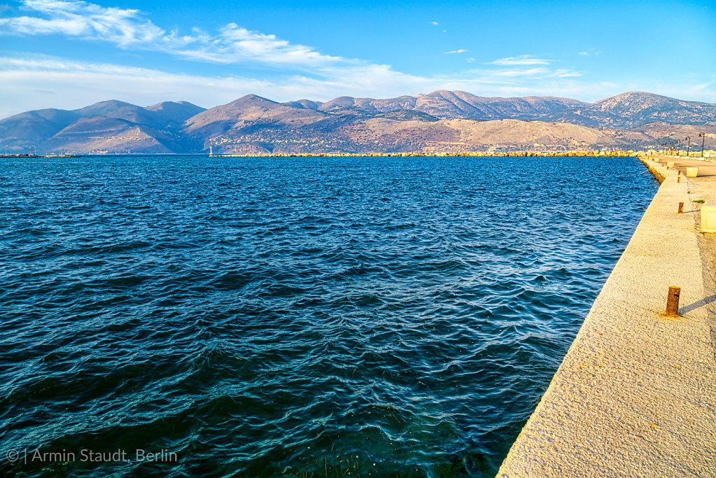 the harbour of Lixouri on Kefalonia Greece