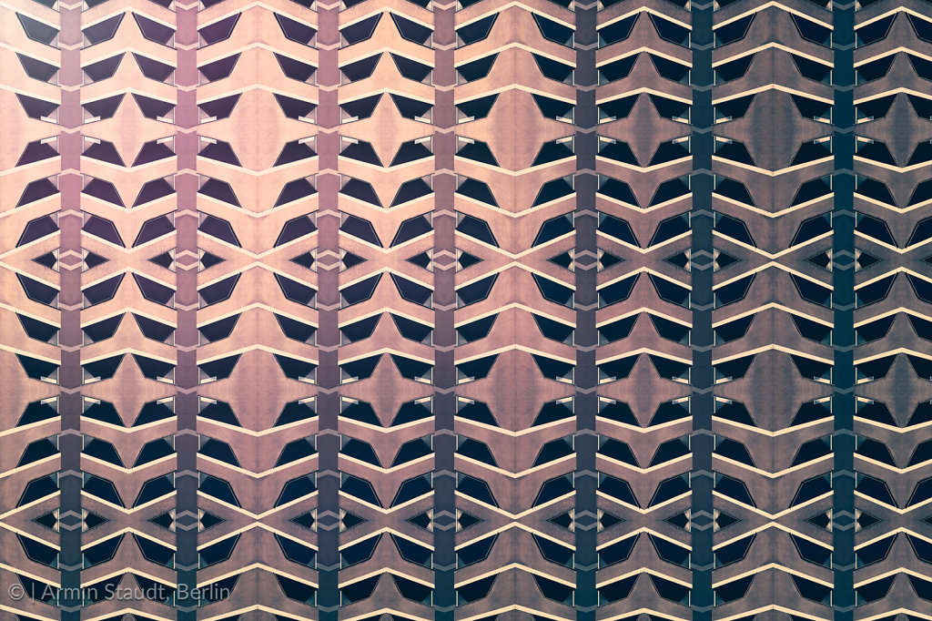architectural pattern, symmetric texture of facade concrete elements